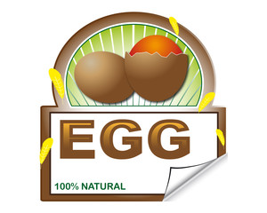 Egg's label for marketplace