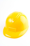 Yellow hard hat isolated on white background