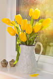 Tulips In Antique Jug