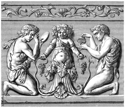 God Bacchus Child & Musicians