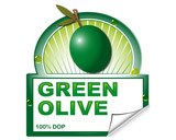 Green olive's laber for marketplace