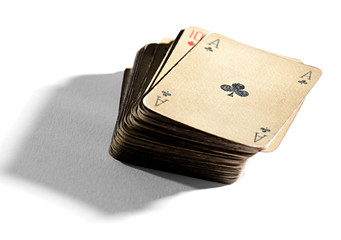 Deck of old vintage playing cards