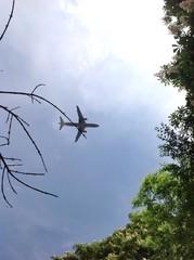 самолет над столицей Болгарии