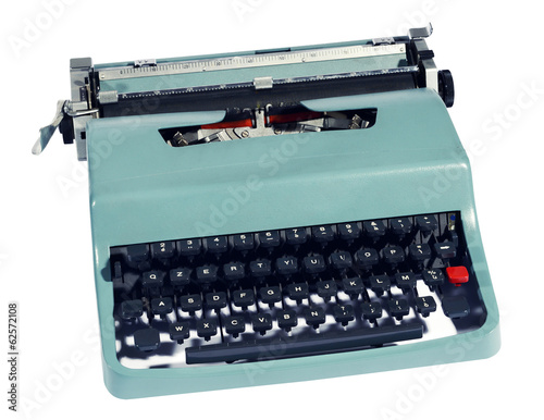 Old retro manual office typewriter