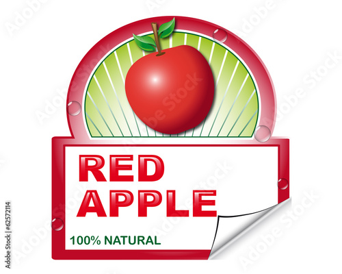 Red apple's label for marketplace