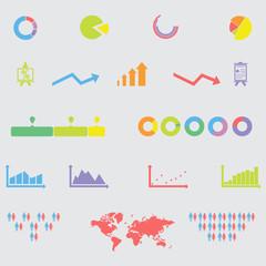Infographic elements icons