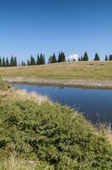 Alpine Lake of Schwartzsee near Verditz (Carinthia, Austria)