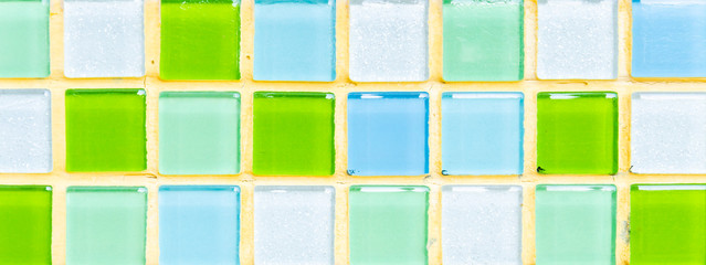 Color tile wall background