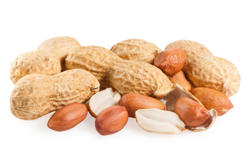 peanuts, isolated on white