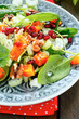 fresh salad with pumpkin and celery