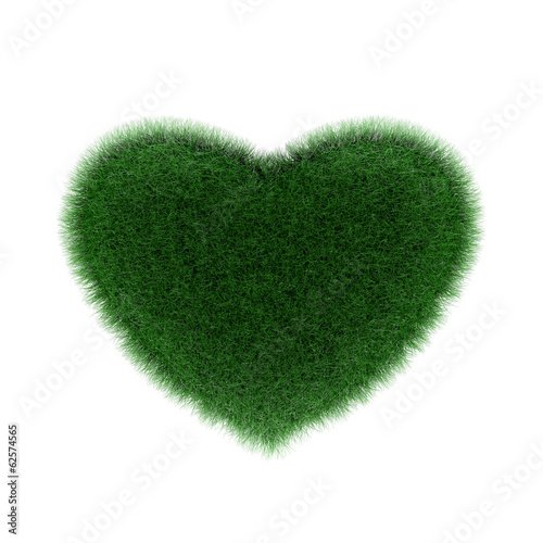 grass heart shaped