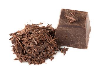 Natural dark Chocolate over White