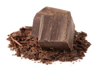 Dark chocolate over White
