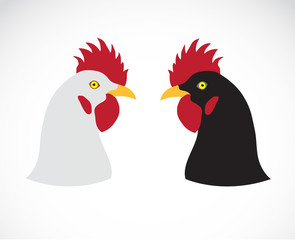 Vector image of an chicken head