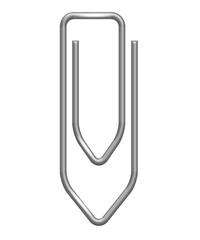 Büroklammer Vektor silber