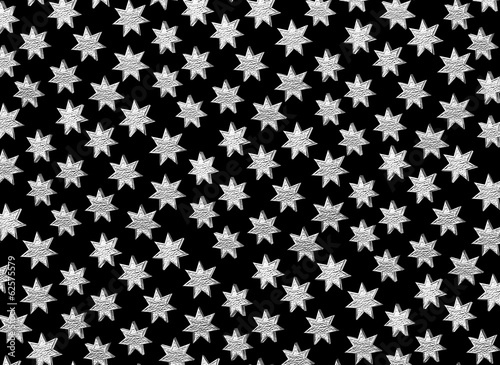 Star pattern on black