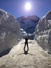Meterhoch Schnee
