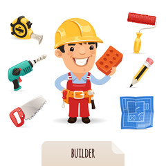 Builders icons set