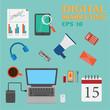 Vector digital marketing elements.