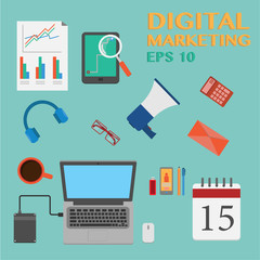 Vector digital marketing elements.