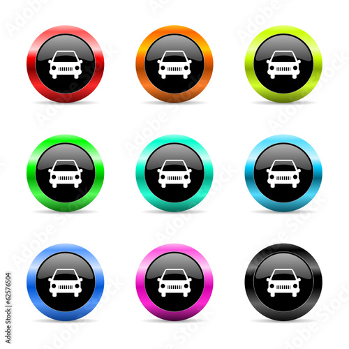 car icon vector set