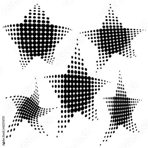 Set of halftone pattern.