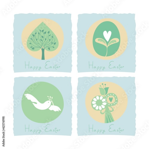 Easter set with seasonal symbols