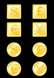 set icon,buttons with money - vector