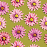 Floral seamless background. Vector illustration.