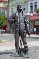 Monument of the Happy Chimney Sweeper in Mukacheve, Ukraine