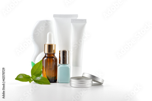 Daily care cosmetics on white background. - 62578729