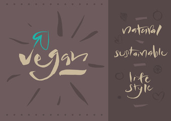 Vegetarian - Vegan - Calligraphy