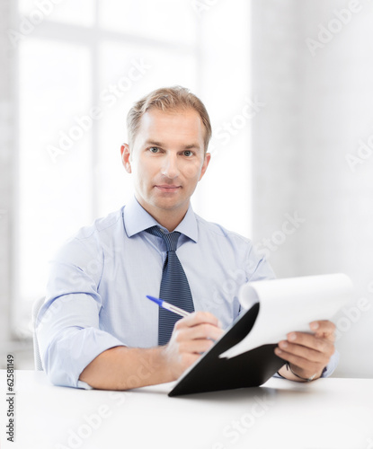 businessman taking employment inteview