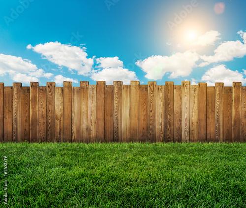 Staande foto Tuin garden fence
