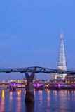 The Shard and the Millennium Bridge