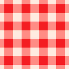 Red Gingham Pattern Seamlessly Tileable