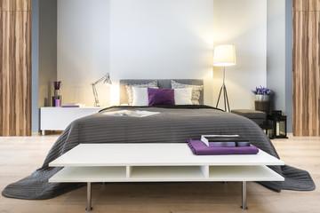Modern stylish bedroom
