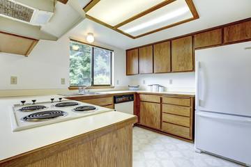 Simple kitchen room interior