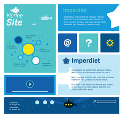Web site template with marine thematics.