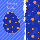 Easter template greeting card