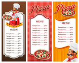 menu for pizza