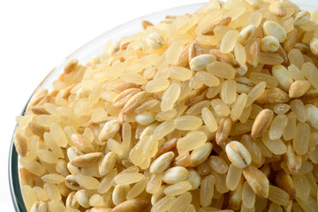 Rice, spelled and barley