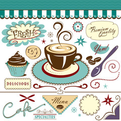 Coffee Shop Cafe Collection of Graphics