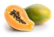 papaya isolated