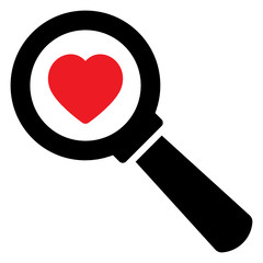 Search love icon