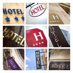 Enseignes d'hôtels
