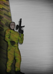 Paintball or airsoft background