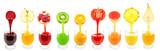 Kolekcja owocowych soków - 62584908