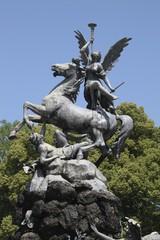 Skulptur im Brunnen von Herrenchiemsee