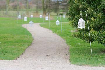 Lantern lit pathway
